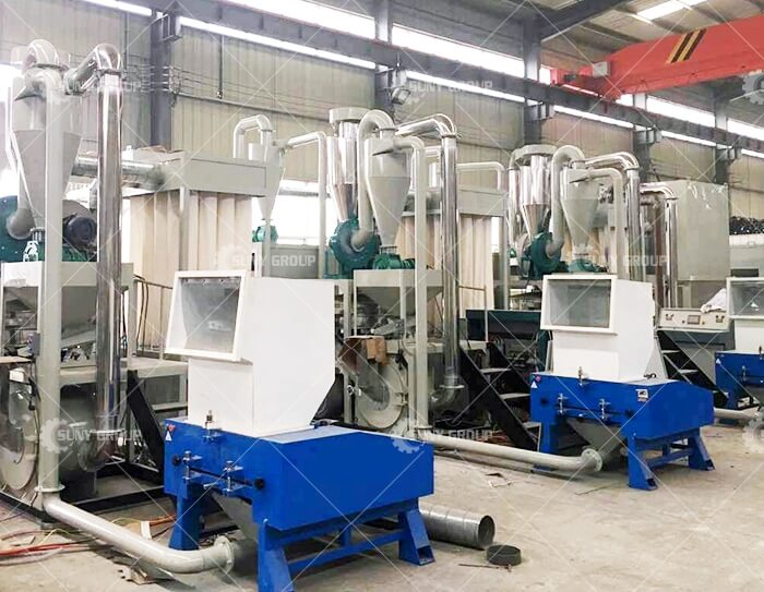 Aluminum-plastic separation and recycling equipment
